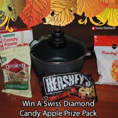 Swiss Diamond 3.2 quart sauce pan, Candy Apple mix, bag of chocolate, nuts and candy corn Ends 10/24