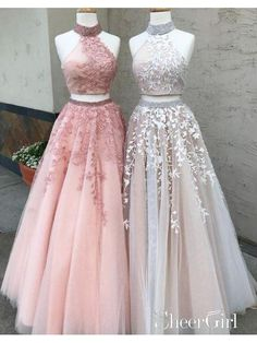 Prom Dresses Lace, Prom Dresses Two Piece, Modest Prom Dresses, A-Line Prom Dresses, Custom Made Prom Dresses Prom Dresses Long Outlet Delightful Prom Dress For Cheap Two Piece Prom Dress A-line Simple Modest African Lace Cheap Long Prom Dress # Prom Dresses Long Pink, Cheap Evening Dresses, Cheap Prom Dresses, Dance Dresses, Wedding Dresses, Tulle Wedding, Sexy Dresses, Summer Dresses, Evening Gowns