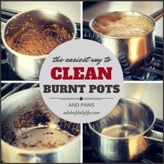 Clean Burnt Pots and Pans in minutes...no scrubbing!   A Dish of Daily Life