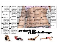 The 30 Day Abs Challenge - Hot Or Not A brand-new health and fitness difficulty has actually just recently swept via social media. It is called the 30 day AB challenge and it lays out a Thirty Days Abdo Challenge, 30 Day Squat Challenge, Workout Challenge, Challenge Accepted, Month Workout, Crunch Challenge, Monthly Challenge, Challenge Ideas, Belly Challenge