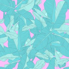 tropical palm leaves seamless pattern, trendy fabric design
