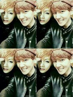 V of BTS and BaekHyun of EXO ♥♥