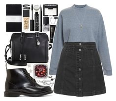 """""""let's go for a walk"""" by velvet-ears ❤ liked on Polyvore featuring CB2, Alexander McQueen, Dr. Martens, Acne Studios, Topshop, Toast, Iosselliani, NARS Cosmetics, Bling Jewelry and FRUIT"""