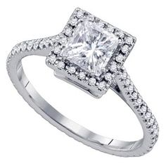 princess cut - this ring is really pretty!