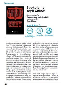 "Magazyn ""Literadar"" (listopad 2013 r.) - recenzja 'sPokolenia...', strona 108. http://andrzejte.pl/"