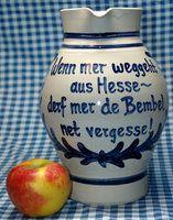 Bembel - Spruch Wenn mer weggeht aus Hesse... - Töpferei Maurer