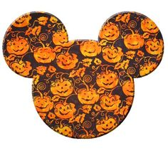 Disney Post Card - Halloween Mickey Pumpkin Ears Logo | Disney ...