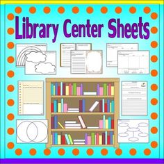 Library Activity Sheets *Teacher Time Savers*