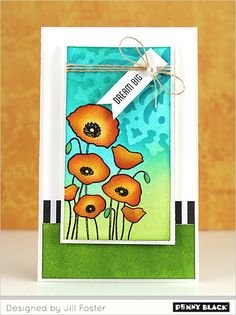 PHOTO TUTORIAL ON OUR BLOG: Featuring Penny Black's new Creative Dies, stencils, and stamps
