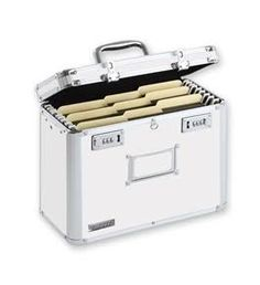 slim lettersize file box secures your important files for transport - Hanging File Box