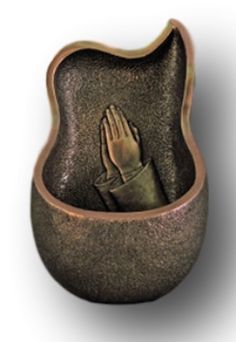 Praying Hands Holy Water Font for Church