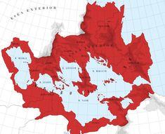 Alvian Empire: Maximum Expansion in IX cen. by Impesio on DeviantArt Fantasy Story, Dark Fantasy Art, Fantasy World Map, Imaginary Maps, Alternate History, Science Fiction Art, Fantasy Landscape, Moon Art, Book Making