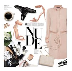 """""""Nude"""" by magdafunk ❤ liked on Polyvore featuring Gianvito Rossi, Alexander McQueen, Ted Baker, Bobbi Brown Cosmetics, Kayu, Charlotte Tilbury, nude, summertofall, nudedress and nudesandals"""