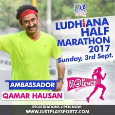 A smile can make a big difference to your Running.  Meet Qamar Hausan who joins us as an Ambassador to Run for 'STOP VIOLENCE AGAINST WOMEN'  Run along with Qamar in Ludhiana Half Marathon 2017 and commit to fighting Gender Inequality and Discrimination which are the main root causes of violence against women.  #StopViolenceAgainstWomen  For Registrations: https://justplaysportz.com/events/Ludhiana-Half-Marathon-2017  More about Qamar's running journey:  Running & Living - Chandigarh Half…