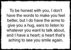 Comforting words...