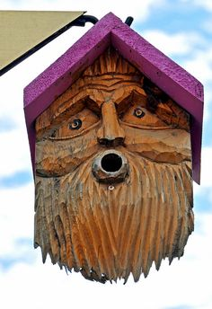 old man bird house