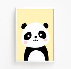 Sale Off – Baby Panda Bear Poster ( nursery art nursery printable Woodland Animal Wall art panda printable Instant … Simple Canvas Paintings, Small Canvas Art, Kids Canvas, Mini Canvas Art, Panda Nursery, Nursery Art, Panda Kindergarten, Art Mini Toile, Panda Bebe