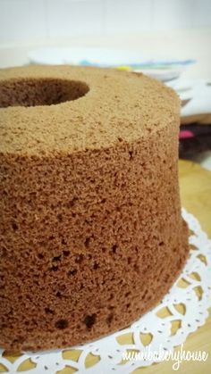 Cocoa Chiffon Cake in rice cooker Rice Cooker Cake, Rice Cooker Recipes, Cooking Recipes, Chiffon Cake, Rice Dishes, Oven Baked, Vanilla Cake, Cocoa, Food To Make