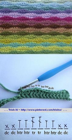 How To :: *Excellent* photo tutorial to crochet the Neat Wave stitch pattern, by Lucy of Attic24. Easy to understand, very detailed write-up with photos of exactly where to insert your hook (U.K. crochet terms, U.S. terms given). Starting chain is a multiple of 10 +1. Each color stripe is comprised of 2 rows. First part of 8-wk CAL for the 'Moorland Blanket'.