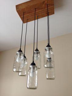 Mason Jar chandelier DIY
