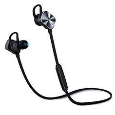 Mpow Wolverine Bluetooth 4.1 Wireless Sports Headphones In-Ear Running Silver  #Mpow
