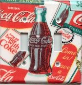 Coca Cola Double Light Switchplate Cover 102