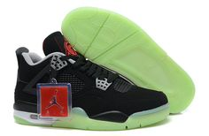 pretty nice 656d7 2bd89 Buy Air Jordan 4 IV Mens Shoes Special For Christmas Glowing Black Top  Deals from Reliable Air Jordan 4 IV Mens Shoes Special For Christmas  Glowing Black ...