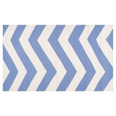 Check out this item at One Kings Lane! Pi Flat-Weave Rug, Periwinkle