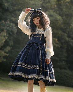 "3262e4f155ca Glitzy Wonderland on Instagram: ""Infanta Honey Candy Lolita Velvet Dress  JSK 🥰 🔎'in30' at glitzywonderland.com $79 Free Shipping✈ 🌎 4 colors, Size  S-XL ..."