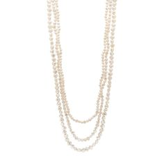 Pearl Lustre Set of 3 Freshwater Pearl Infinity Necklaces $39.96