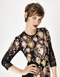 Louise Bourgoin by Thomas Nutzl for Grazia France May 22nd, 2015 - Dolce&Gabbana