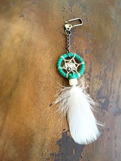 This elephant dream catcher keychain is perfect to hang on your purse, keys, or even in your car! Makes for a great gift.   catchthosedreams.etsy.com