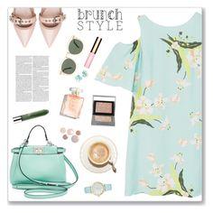 """Brunch Look"" by nastenkakot ❤ liked on Polyvore featuring MANGO, Miu Miu, Fendi, Karen Walker, Clinique, Burberry, Kate Spade, Clarins, Ippolita and Spring"