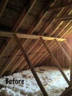 Attic storage idea i have a difficult attic blown insulation and diy installation adding radiant barrier insulation solutioingenieria Gallery