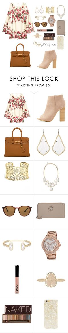 """""""thank you Lord for saving my soul; 💗"""" by jen-joanna ❤ liked on Polyvore featuring Bamboo, Hermès, Kendra Scott, Persol, Tory Burch, Michael Kors, NYX, Urban Decay and Forever 21"""