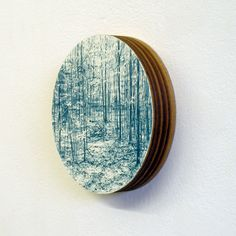 Gary Colclough  Wreckage  Coloured pencil, paper, and wood  Diameter 9.6cm  2011