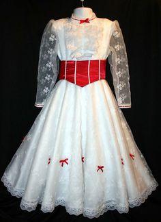 Mary Poppins Jolly Holiday Costume Dress Set by on Etsy Mary Poppins White Dress, Mary Poppins Jolly Holiday, Robes Disney, Fancy Dress, Dress Up, Mary Poppins Costume, Holiday Costumes, Halloween Costumes, Disney Costumes