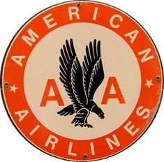American Airlines had changed their logo over the years. This is an example of what it used to look like. I have to say I am not a fan of this color scheme. America is red white and blue and thankfully they changed the logo to those colors now a days but this is just messy and ugly.