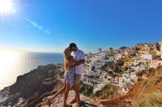 Santorini, Greek. One of the most romantic places on earth to celebrate an anniversary.