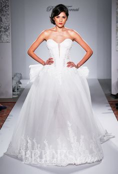 A strapless ball gown #weddingdress | Brides.com