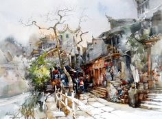 Chan Chang How #watercolor jd