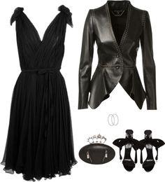 SevenRoses: Alexander McQueen, Black Swan Chiffon Cocktail Dress