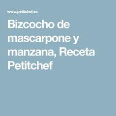 Bizcocho de mascarpone y manzana, Receta Petitchef