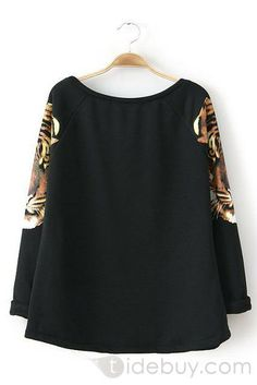 Glamorour Sexy Embroidery Lady's Black Shirt : Tidebuy.com