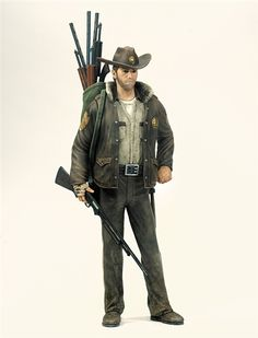 """THE WALKING DEAD"" GRAPHIC NOVEL STYLE SERIES 1 RICK GRIMES ACTION FIGURE"
