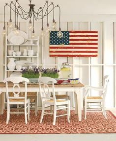love the punch of color against all the white. very patriotic.