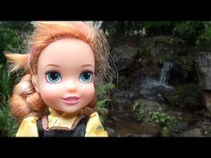 Toddler Anna and Elsa play in the water whilst their big friends get a s...
