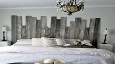 make-a-head-of-bed-deco-idea-has-to-oneself-to-ch .- making-a-head-of-bed-idea-deco-to-do-yourself-for-room. Room, Home Decor, Bedroom Inspirations, Diy Pallet Furniture, Home Deco, Bed, Diy Furniture To Sell, Headboard, Bed Frame