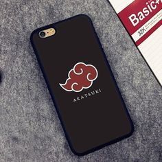 Akatsuki logo Naruto Style Printed Soft Rubber Phone Cases For iPhone 6 Plus 7 7 Plus 5 SE 4 Back Cover Skin Shell Anime Inspired Outfits, Anime Outfits, Naruto Shippuden Sasuke, Itachi Uchiha, Kakashi, Otaku Anime, Anime Naruto, Accessoires Iphone, Coque Iphone 6