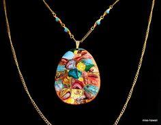 Vintage Halsschmuck - WOW !! Abstrakte Modernist Halskette. Retro Boho - ein Designerstück von Miss-Hawaii bei DaWanda